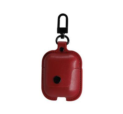 Jinya Airpack Leather Case for Apple AirPods, Classic Handmade Design, Red