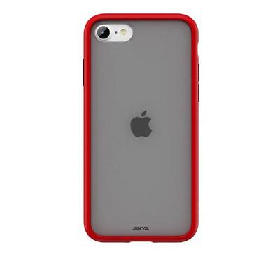 Jinya SandyPro iPhone SE Protecting Case, Complete Protection, Soft Silicone Frame, Red