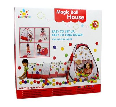 Baby Love, Magic Ball House And Tunnel With 100 Balls