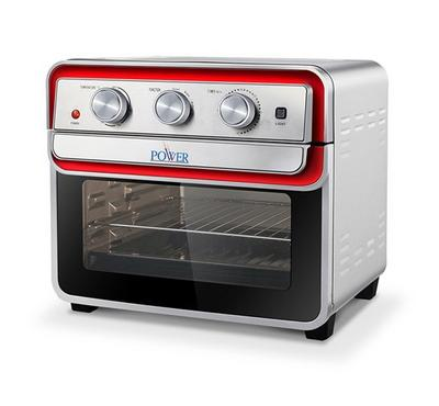 Power 22L Electric Airfryer Oven, 1700 Watts, Rotesserie, Convection fan, Timer,Silver.