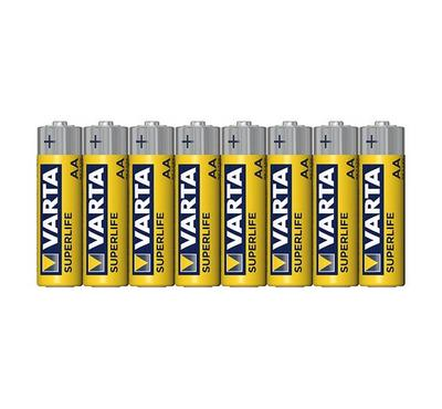 Varta, Super Life Mingo Zinc Carbon AA BATTERY 1.5V, Pack oF 8, Yellow
