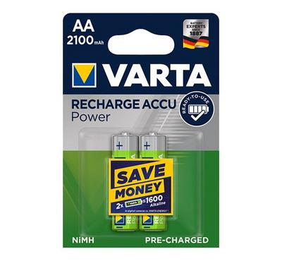 Varta, Rechargeable Battery AA, 2100mAh , 2nos, Green