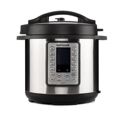Nutricook Smart Pot Pressure Cooker Prime 8L, 1200W, Stainless Steel Cooking Pot, with Accessories.