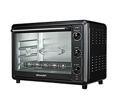 Sharp 60L Electric Oven, 2000W, Doubble Glass, Black.