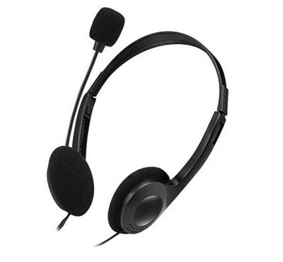 E-Links PC Headset, Analog, Microphone, One Plug, Black