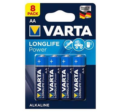Varta, Alkaline AA Longlife Battery, 8 nos, Blue