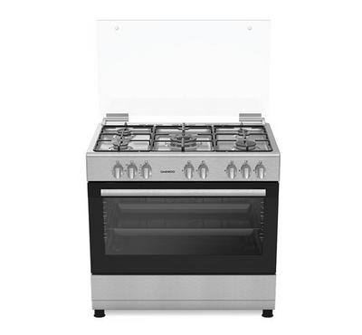Daewoo 90x60 Freestanding Gas Cooker,5 Burners, Full Safety,Silver