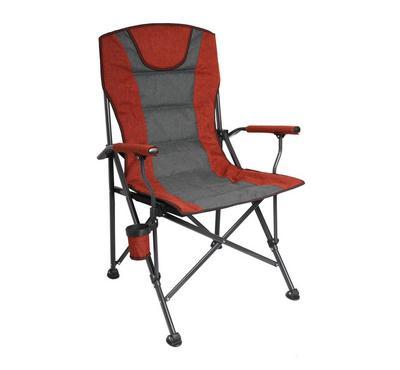 هوميز، كرسي شاطئي قابل للطي مع حامل قوارير، أحمر و أسود