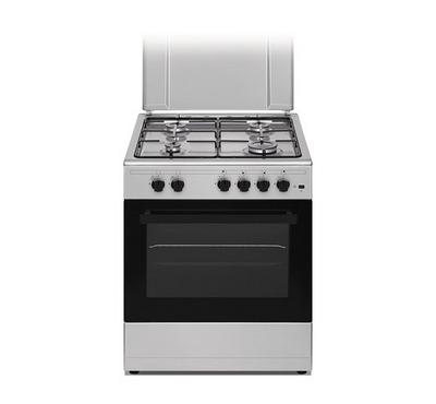 Nikai 60*55  Freestanding Gas Cooking Range,4 Burner, Fuii Ssafety, Silver.