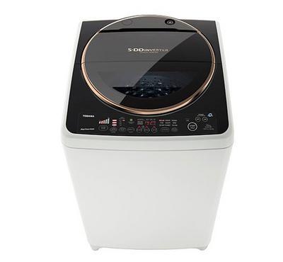 Toshiba, Top Load Fully Automatic Washing Machine, 15KG, SDD Inverter Motor, White/Black