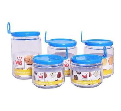 Wellberg, 5 pcs Glass Jar Set