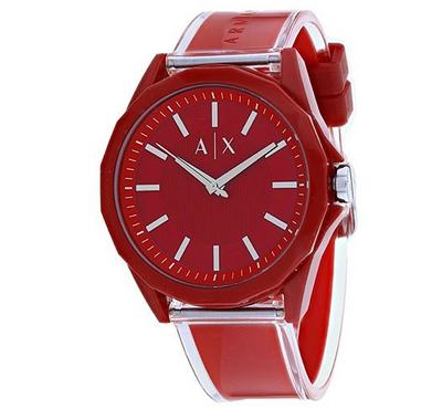 Armani Exchange, Men's Watch, Red With Red Dail