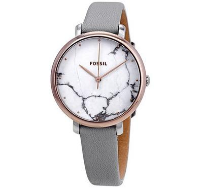 فوسيل، ساعة نسائية، مينا بيضاء، بنفسجية