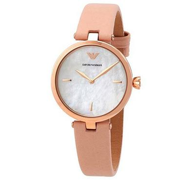 Emporio Armani, Women's Watch, Pink With White Dail