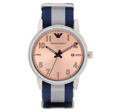 Emporio Armani, Men's Watch, Pink With Rosegold Dail