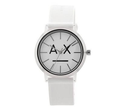 أرماني إكستشينج، ساعة نسائية، مينا بيضاء، بيضاء