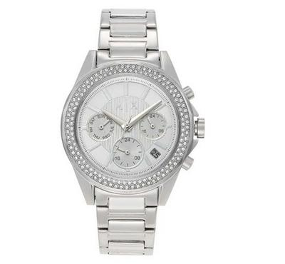 Armani Exchange, Women's Watch, Silver With Silver Dail