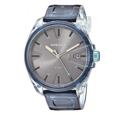 ديزل، ساعة رجالية، مينا رمادية، زرقاء