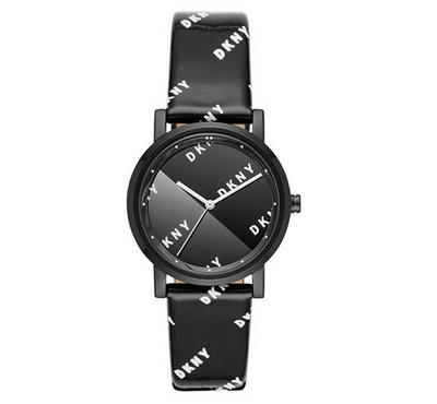 Dkny, Women's Watch, Black With Black Dail