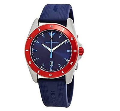 Emporio Armani, Men's Watch, Blue With Blue Dail