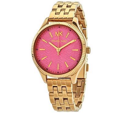 مايكل كورس، ساعة نسائية، مينا وردية، ذهبية