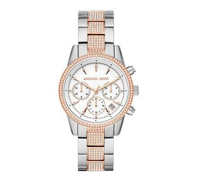 Michael Kors, Women's Watch, Silver With White Dail