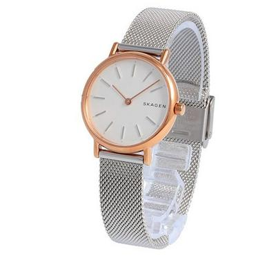 Skagen, Women's Watch, Silver With White Dail
