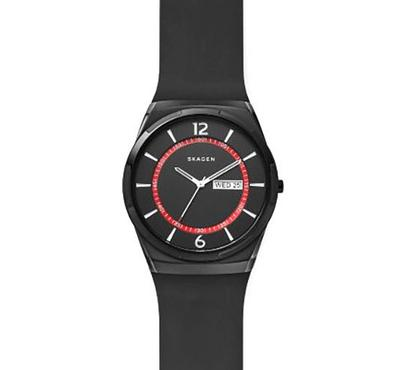 Skagen, Men's Watch, Black With Black Dail