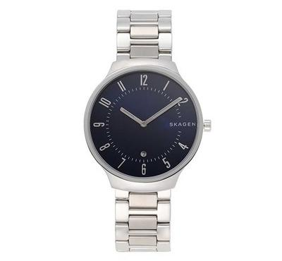 Skagen, Men's Watch, Silver With Blue Dail