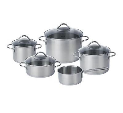 Fissler, Vienna 9pcs Pot Set. Stainless Steel