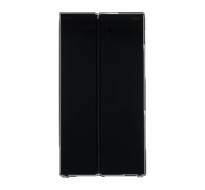 باناسونيك ثلاجة باب جانب باب، 18 قدم، إنفيرتر، زجاجي أسود