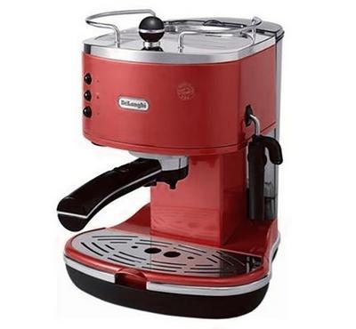 Delonghi Coffee Maker,Stainless steel espresso boiler for longer life,15 bar pump pressure,Red