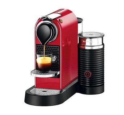 Nespresso Citiz and Milk Coffee and Cappuccino Machine, 1710W, 1L, Red