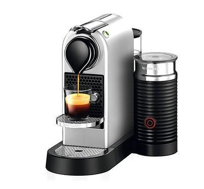 Nespresso Citiz and Milk Coffee and Cappuccino Machine, 1710W, 1L, Silver