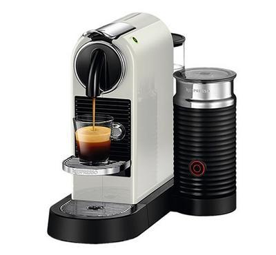 نيسبريسو سيتيز ميلك، صانعة قهوة وكابتشينو، أبيض
