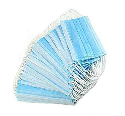 Disposable Face Mask Pack Of 50, Blue