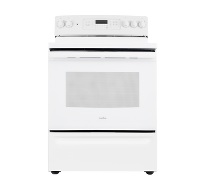Mabe Electric Ceramic Cooking Range, 5 Radiant Burners, White
