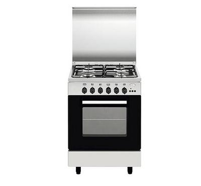 Glemgas 90x60cm Gas Cooking Range With Grill Full Safety, 4 Gas Burners, Stainless Steel