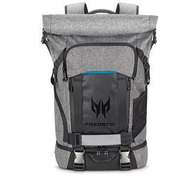 Acer, Predator Gaming Rolltop Backpack, 15 Inch laptops, Grey