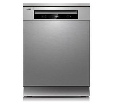 Toshiba Dishwasher,13 Plates Setting, 6 Programs,Silver