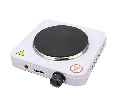 Geepas, Single Hot Plate, 1000W, Temperature Control, White