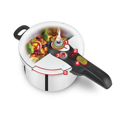 Tefal, Pressure Cooker,4 Secure Neo, Stainless Steal