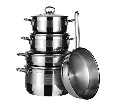 Amboss, Saphire 9 Pcs cookware Set, Stainless Steel