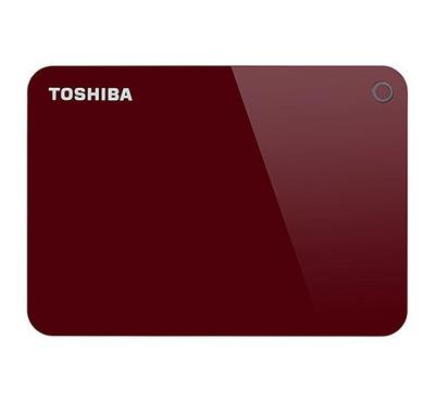 Toshiba, Canvio Advance, 4TB, External Hard Disk Drive, Red