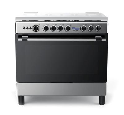 SGC 90x60 Gas Cooker, 5 Burners, Gas Grill & Oven,Stainless Steel