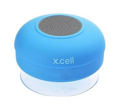 Xcell, Bluetooth Speaker, Waterproof, Built-in Mic, 6hrs Play Back, Blue