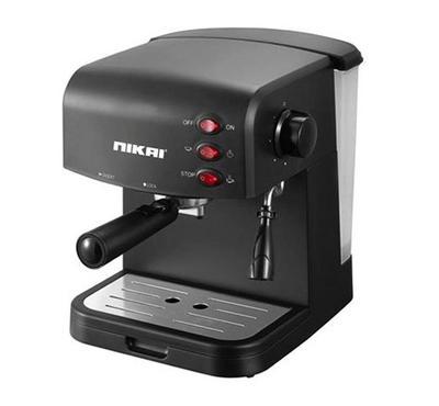 نيكاي، ماكينة تحضير القهوة، 1.5 لتر، اكسبرسو ميكر، أسود