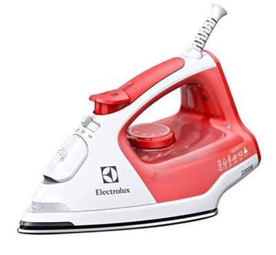 Electrolux 2200W Steam Iron, 100G Steam Shot, 300 ML Water Tank, Red