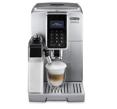 Delonghi Coffee Maker,15 bar Pump pressure, Self-Priming System, Cappuccino System, Silver.