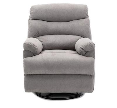 Homez, Manual recliner with swivel function, towel fabric, Grey